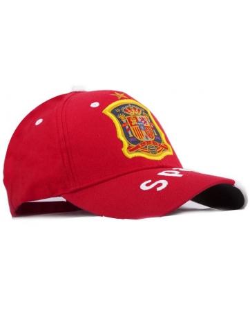 бейсболки испания спортивная красная