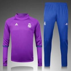 Водолазкой тренировочные костюмы UEFA реал мадрид фиолетовый 2016 2017