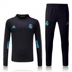 Водолазкой тренировочные костюмы UEFA реал мадрид черные 2018 2017