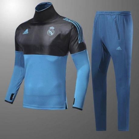 Водолазкой тренировочные костюмы UEFA реал мадрид 2017 2018 синий