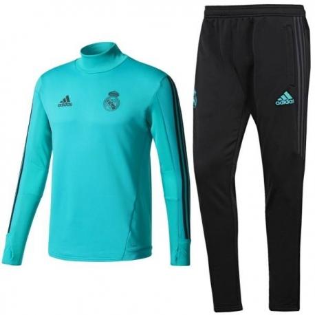 Водолазкой тренировочные костюмы UEFA реал мадрид 2018 2019 берюзовый