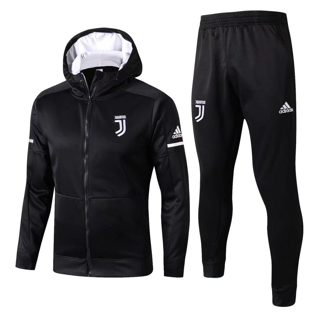 Капюшоном спортивные костюмы ювентус черный