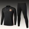 Тренеровочные костюмы Барселона черный больших размеров