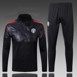 Водолазкой тренировочные костюмы UEFA манчестер юнайтед 2018 2019 черный