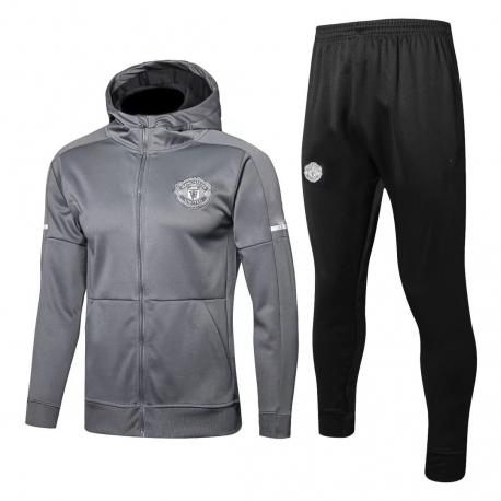 с капюшоном cпортивные костюмы Манчестер юнайтед серый