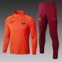Тренеровочные костюмы Барселона оранежевый больших размеров