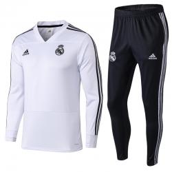 Детские тренировочные (Белый/Черный) костюмы реал мадрид