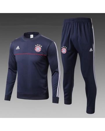 Бавария детский тренеровочный костюм темно синий 2018 2017