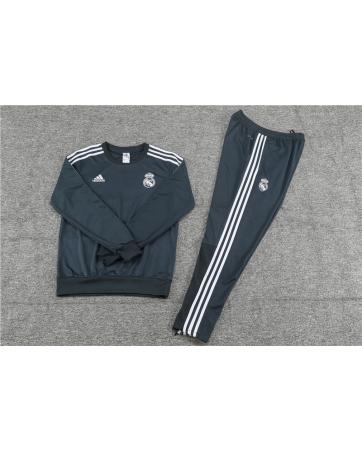 Реал мадрид детский тренеровочный костюм серый 2018 2017