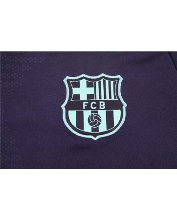 Барселона детский тренеровочный костюм темно синий 2018 2019