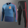 Испании детский тренеровочный костюм темно синий 2018 2019