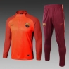 Барселона детский тренеровочный костюм оранжевый 2018 2019