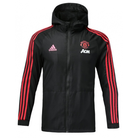Куртка ветровки Манчестер юнайтед черная красная