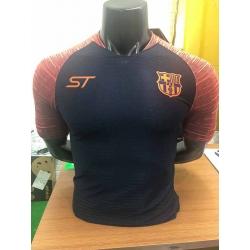 Новотехнологичная футболка Barcelona черная оранжевая