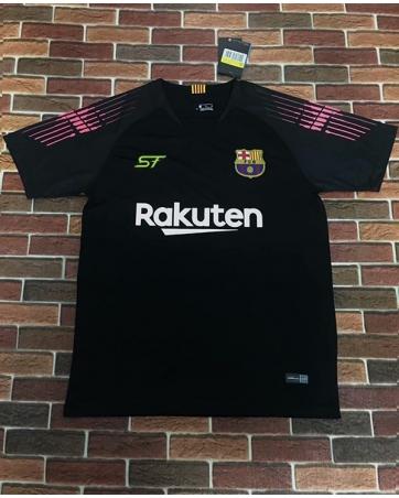 Футболка Barcelona 2018 черная розоая