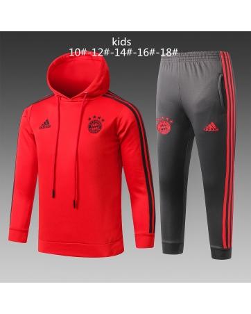 Бавария детский тренеровочный костюм красный 2018 2019