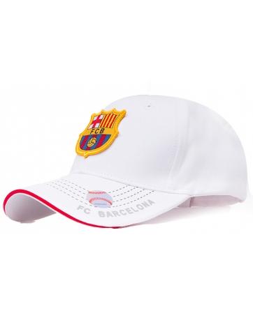 (Белый/Золотой) Бейсболки Барселона Фк