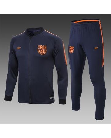 Тренировочный костюм барселоны 2018 2019 темно синяя