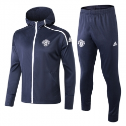 с капюшоном cпортивные костюмы Манчестер юнайтед темно серый
