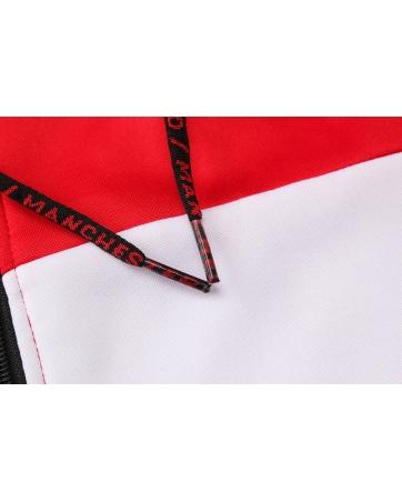 cпортивные костюмы капюшоном манчестер юнайтед красный черный