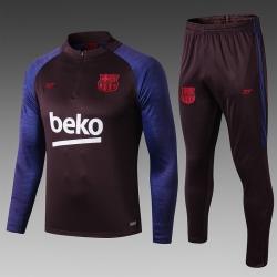 Тренировочные костюмы барселоны 2020 2019 темно синий