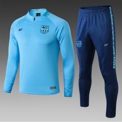 Тренировочные костюмы барселоны 2020 2019 небесный синий