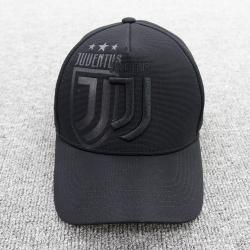 бейсболка кепка ювентус черная с лого черным