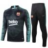 (Черный/Берюзовый) Барселоны тренировочные костюм  2019 2020 border