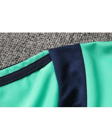 (Минтоловый/Темно синий) Тренировочные поло костюмы реал мадрид купить