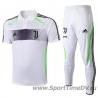 (Белый/Черный) Футбольный костюм поло ювентус 2019 2020