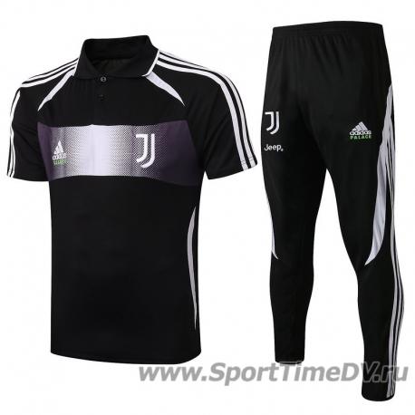 (Черный/Белый) Футбольный костюм поло ювентус 2019 2020