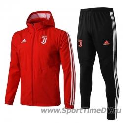 Купить (Красный/Черный) Ветрозащитные костюмы ювентус juvenuts