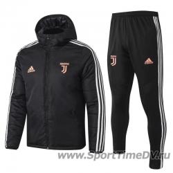 Купить (Черный/Белый) Теплые спортивные костюмы ювентус 2020