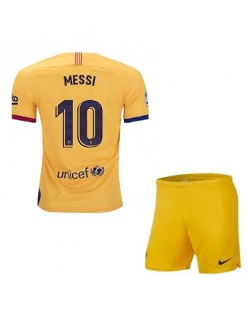 Детская форма барселоны с шортами 2018-2019 желтое