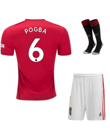 Детская форма Манчестер Юнайтед Погба 6 2019-2020 с гетрами