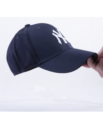 Бейсболка new york yankees темно синяя Strechfit