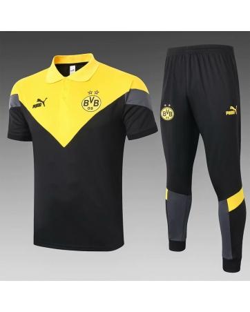 Футбольный костюм боруссия 2021 Черный/Желтый