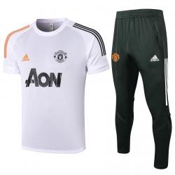 Футбольный тренировочный костюм (Белый/Черный) v2 2021