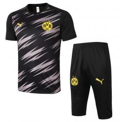 Футбольные комплекты костюмы (Черный/Желтый) Боруссия Дортмунд 2020 2021
