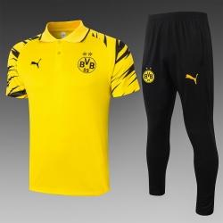 Парадный футбольный костюм поло (Желтый/Черный) боруссия дортмунд 2020 2021