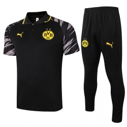 Парадный футбольный костюм поло (Черный/Желтый) боруссия дортмунд