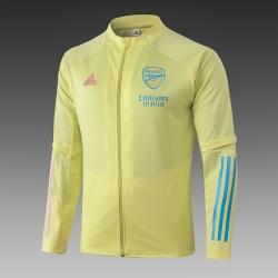 (Желто/Жерюзовые) Олимпийки куртки футбольные арсенал лондон 2020 2021