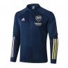 (Темно синий/Желтый) Олимпийки куртки футбольные арсенал лондон 2020 2021