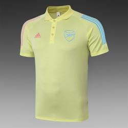 (Желтая) Поло футболка фк арсенал лондон 2021 2020