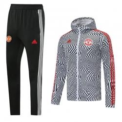 Ветрозащитный костюм (Белый/Серый) Манчестер Юнайтед 2021 2022