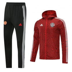 (Красный/Черный) Ветрозащитный костюм Манчестер Юнайтед 2021 2022