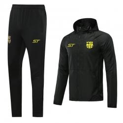 (Черный/Желтый) Ветрозащитные костюмы Барселоны 2021 2022