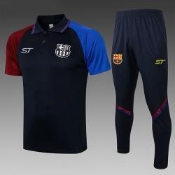 (Темно синий/Берюзовый) Футбольные костюмы барселоны 2020 2021