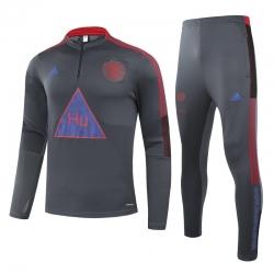 (Серый/Красный) Теплые тренировочные костюмы Манчестер юнайтед 2021 2022