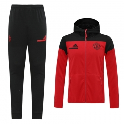 (Красный/Черный) с капюшоном cпортивные костюмы Манчестер юнайтед